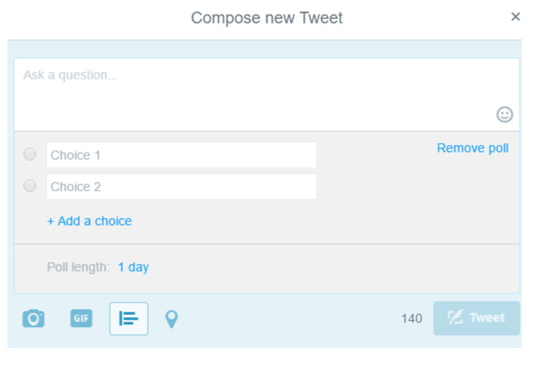 Composing Poll Twitter