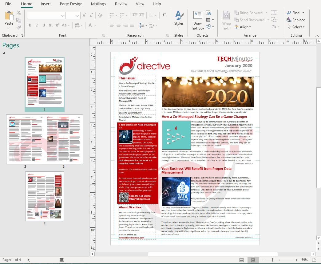 printed newsletter microsoft publisher